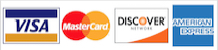 Visa, MC, Amex, Discover Accepted