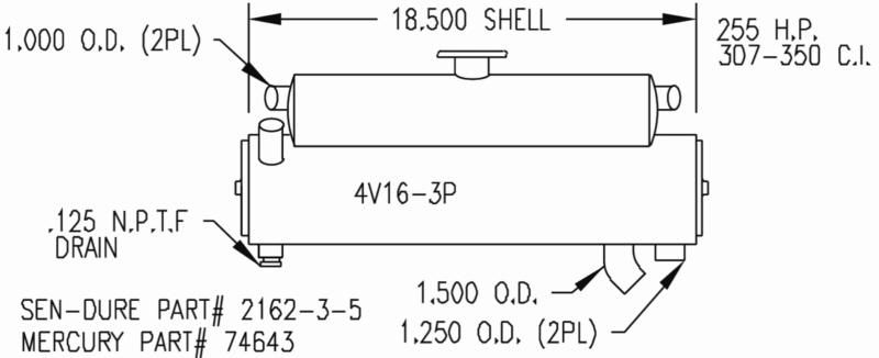 Sk Mer 74643 Mercruiser Heat Exchanger By Seakamp Engineering