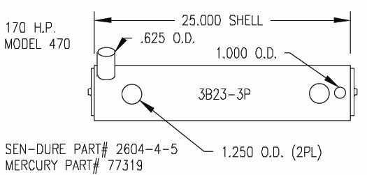 Sk Mer 77319 Mercruiser 3 Heat Exchanger By Seakamp Engineering