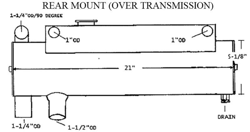 Sk Mer 44446 Mercruiser Heat Exchanger 45474l Rear Mount By