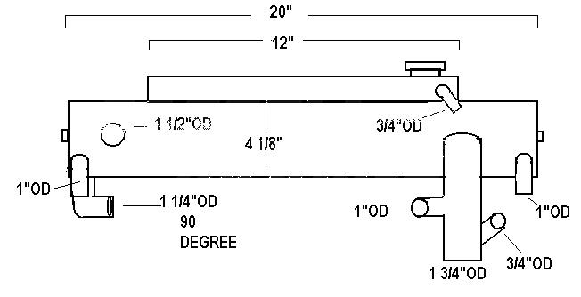 Sk Mer 807400a1 Mercruiser Heat Exchanger 454 502 74l 82 L