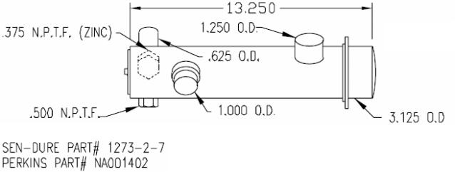sk per na001402 cn perkins heat exchanger 4