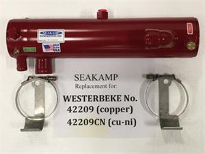 SK WES 42209 CN Westerbeke Heat Exchanger CuNi 90A Four