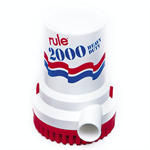 Rule 10 2000 GPH Non-Automatic Bilge Pump 12V