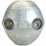 Canada Metals CMX01 3/4 in. Zinc Streamlined Shaft Anode